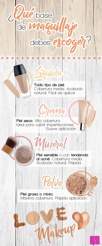 ¿Ya sabes que base de maquillaje debes elegir? Líquida, en crema, mineral o en…