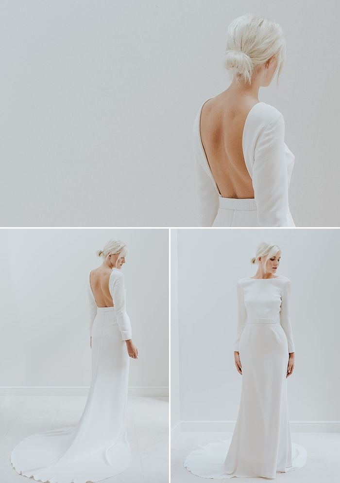 Modern Minimalist Wedding Dress - Charlotte Simpson Bridal