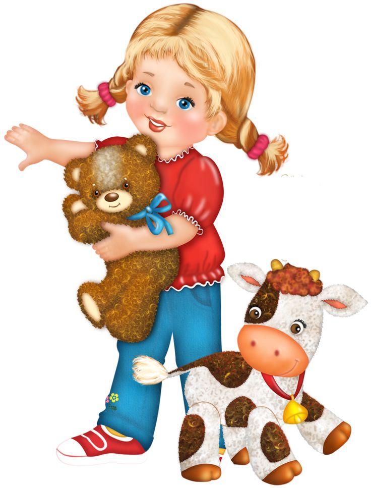Картинки нарисованные дети с игрушками