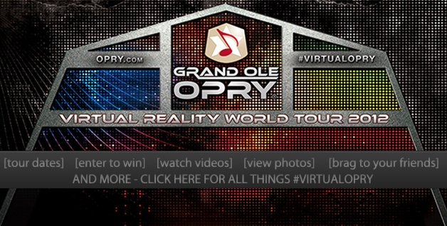 The Virtual Opry Stage is part of Brad Paisley's tour! Click here to enter to win, and more: http://www.opry.com/