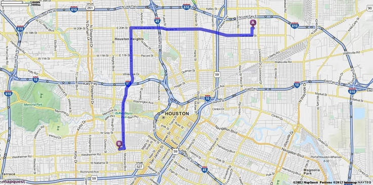 Driving directions from 5008 rand st houston texas 77026