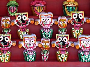 Wooden idols - Jagannath Puri, India