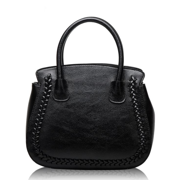 52.85$  Buy here - http://aii11.worlditems.win/all/product.php?id=32597258929 - Black Saffiano Bag 2017 Fashion Design Women Cattle Leather Handbags Famous Brands Knitting Socialite Messenger Bag HD651206