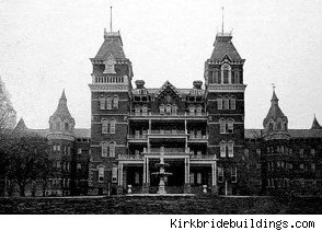 "Considered one of the most haunted places on earth, this hospital acquired its reputation in 1978 when the body of a missing deaf-mute female patient was found in a room that was locked from the inside. Legend states a stain left by her corpse remains in spite of many attempts to remove it. First opened in 1874, the institution closed in 1993 and was located in Athens, Ohio. The Fox Family Channel's television show ""Scariest Places on Earth"" includes the Athens Asylum and because of the…"