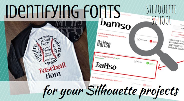 Best Font Identifer Site for Silhouette Studio Projects | Silhouette School | Bloglovin'