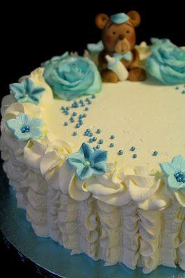 Kakkuviikarin vispailuja!: Baby shower- kakku