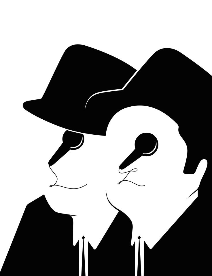 The Blues Brothers Portrait by Noma Bar, part of his Guess Who? Book ::: www.dutchuncle.co.uk/noma-bar-images