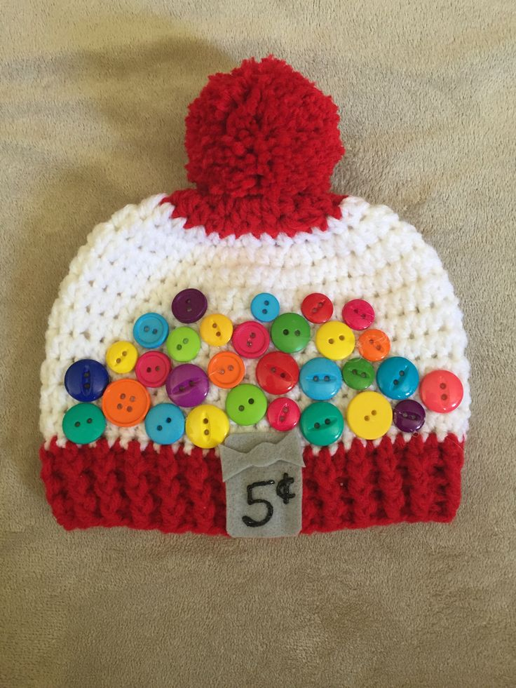 super cute bubble gum machine hat pattern. crochet for newborn-child http://www.ravelry.com/patterns/library/bubble-gum-machine-2