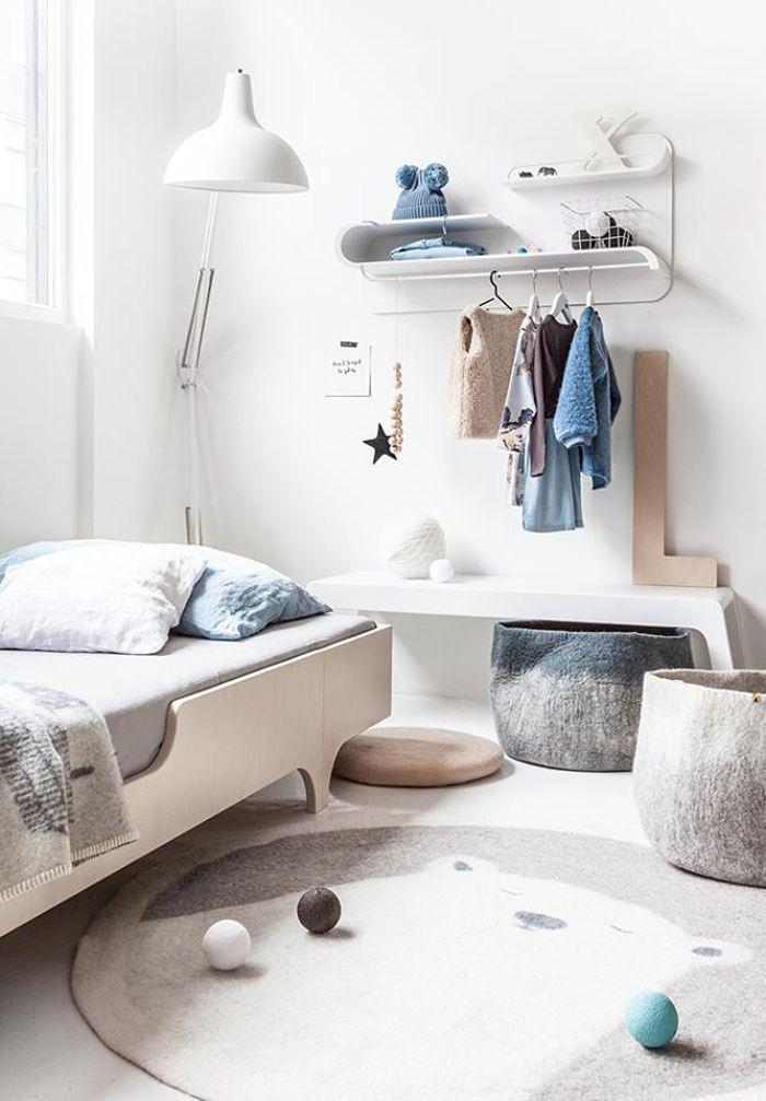 Rafa-kids white furniture collection - shelf and bench