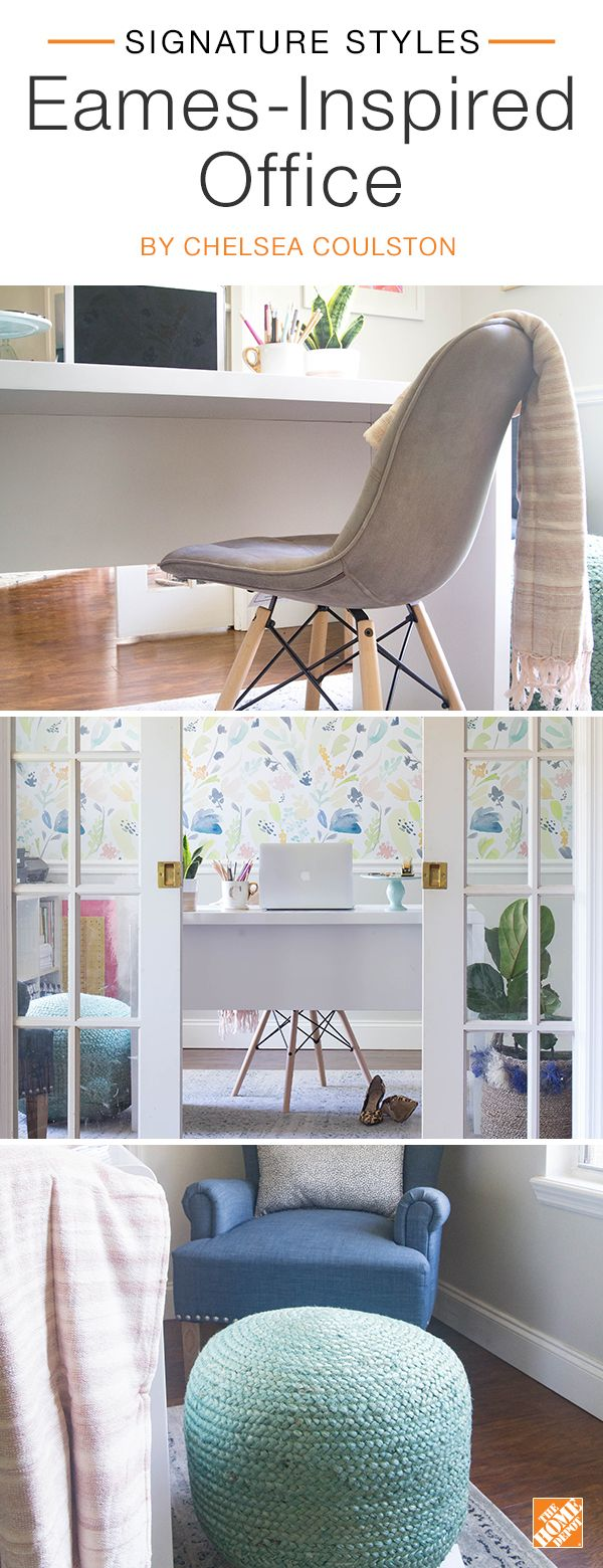 Small space design ideas small spaces huge inspiration see all our - Put A Modern Twist On Mid Century Style With An Eames Inspired Office