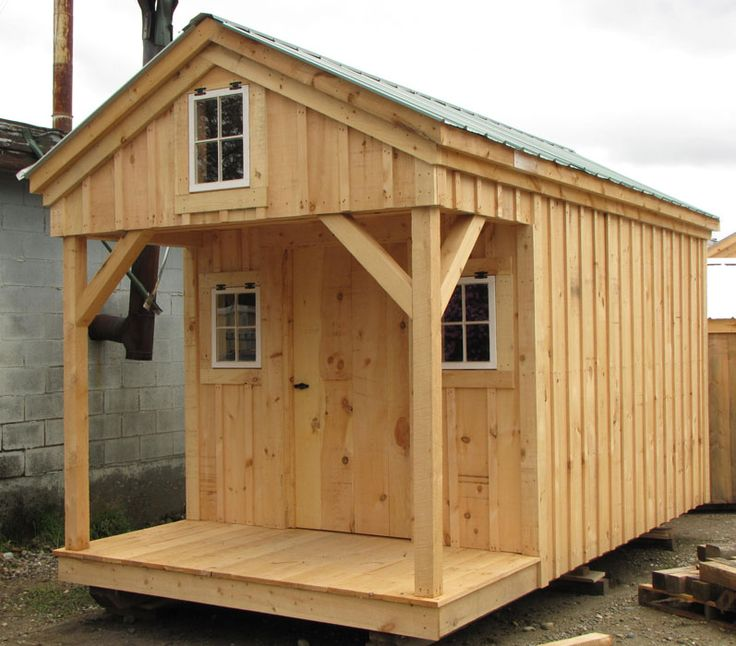 8x16 bunkhouse available as plans kits 2 people 24 for Home design 8x16