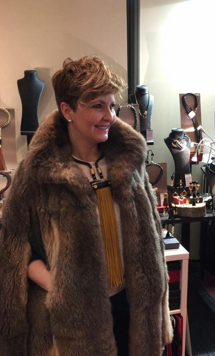 Camelia Ríos con sus piezas  únicas y Garyus con sus abrigos de piel, una combinación ideal e inigualable, juntos este fin de semana en el Hotel Londres de San Sebastián.