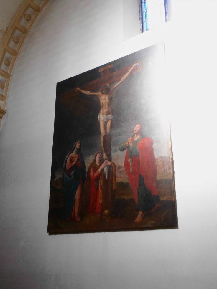 Pintura en pared de nave lateral.