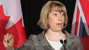 Ontario Education Minister Laurel Broten says she doesn't believe that 'there's anything radical about allowing students to name a club.' (Colin Perkel/Canadian Press)