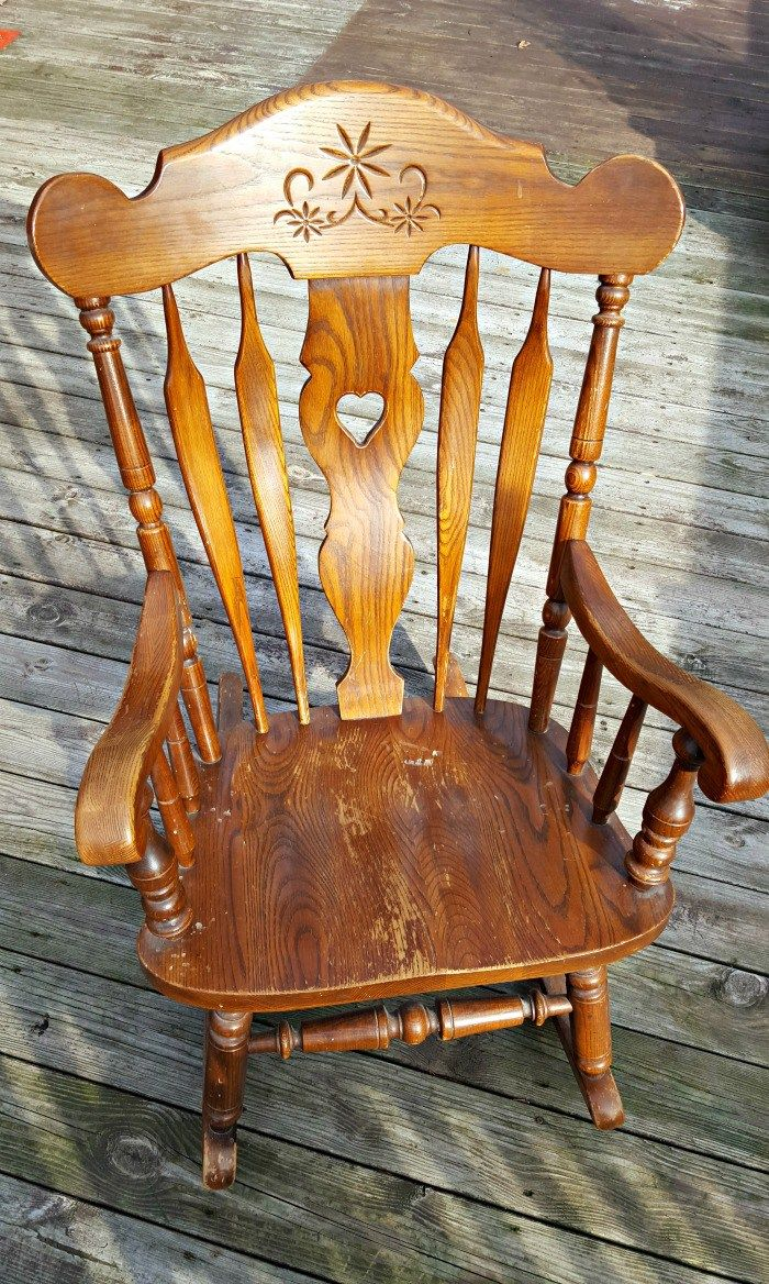 How to make a simple wooden rocking chair - How To Spray Paint A Wooden Rocking Chair It S Less Than 10