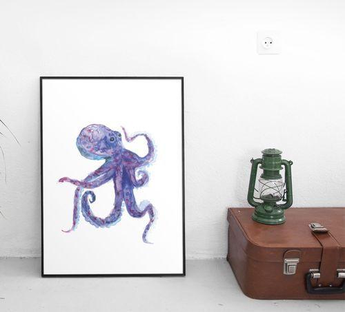 Squid 21x30cm