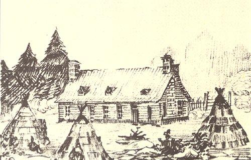 Premier Hôtel-Dieu de Quebec en 1639