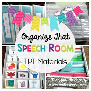 Organize that Speech Room! {TPT Materials}
