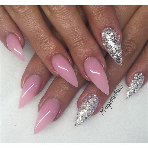 Nude Pink And Silver Stilettos | STILETTO NAILS | Pinterest | Fun Nails Nails Magazine And Nail ...