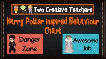 Two Creative Teachers - Harry Potter Theme Behaviour Management Chart This product contains posters that include the words: outstanding effort, awesome job, great work, ready to learn, stop and think, danger zone, teacher choice and parent contact. If you like the theme and have different words in mind, please email us and we can adapt and send you a copy.How To Use This Resource:Display this in the classroom or hang it in the room.