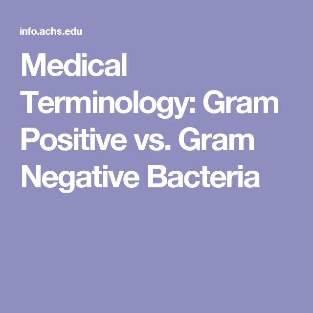 Medical Terminology: Gram Positive vs. Gram Negative Bacteria