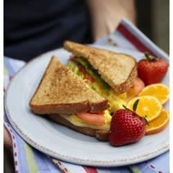 Scrambled Eggs, Tomato, Mozzarella and Basil Sandwich - Allrecipes.com