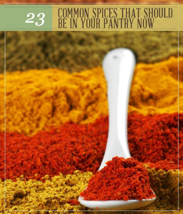 Common Spices That Should be in Your Pantry Now | Add a little kick to your meal | Homestead recipes and tips & tricks by Pioneer Settler at http://pioneersettler.com/23-common-spices-pantry-now/