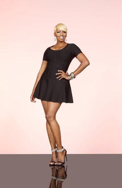 Nene Leakes RHOA - love the shoes with a simple black dress!
