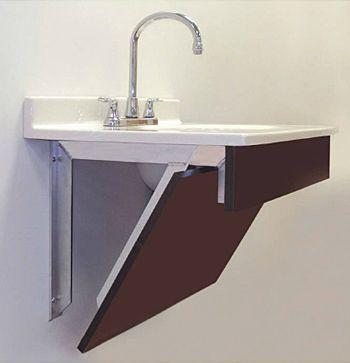 1000 images about new office on pinterest bathroom for Floating bathroom vanity brackets