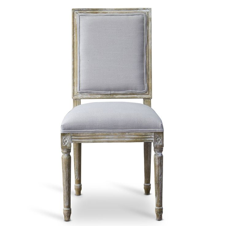 Baxton Studio Clairette Wood Traditional French Dining Chair (Dining Chair-Beige), Beige (Fabric)