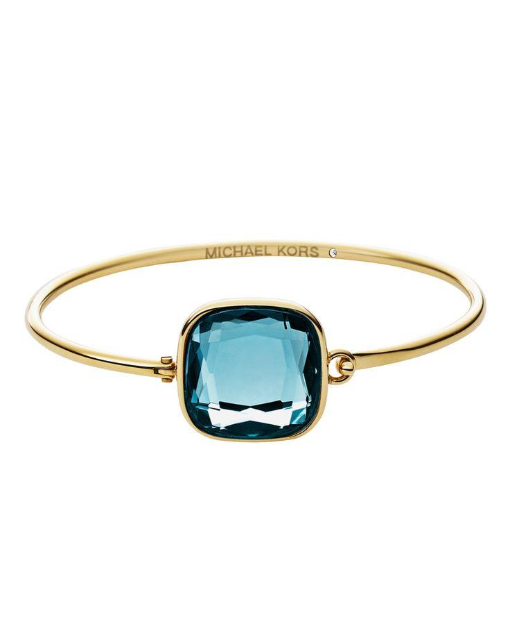Glamour&Couture by Michael Kors Gold-Tone Bracelet Blue www.fashionette.de