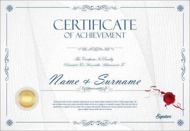 Certificate Of Achievement Template Retro Design Certificate Of Achievement Template Certificate Of Achievement Retro Design