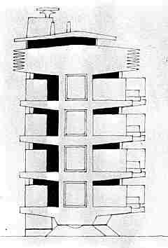 Alçado edificio Promtheus, alçado, Pancho Guedes