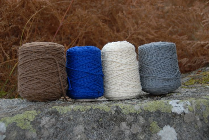 My 2014 yarn colours. Pure wool, organically processed and taken from my flock of rare breed British sheep.