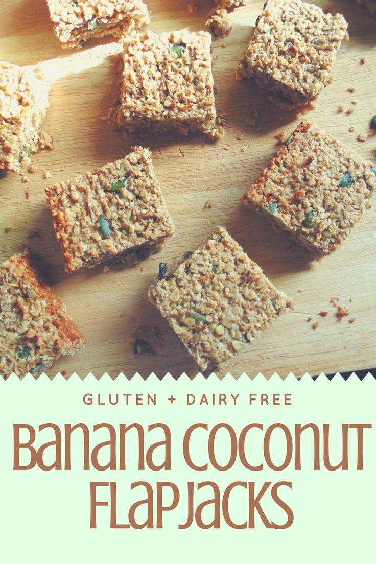 Banana Coconut Flapjacks! (GF + DF)