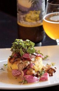 Crispy Grits with Sweet and Sour Beets and Mushrooms recipe. Jolly Pumpkin Brewery & Café—the Ann Arbor, Mich., eatery arm of the Dexter, Mich., brewery—serves up farm-fresh fare with the brewery's innovative sour beers. Chef Maggie Long usually makes this vegetarian dish with splashes of wine, but for DRAFT she subs in Oro de Calabaza, the brewery's tart, spicy Belgian strong ale.
