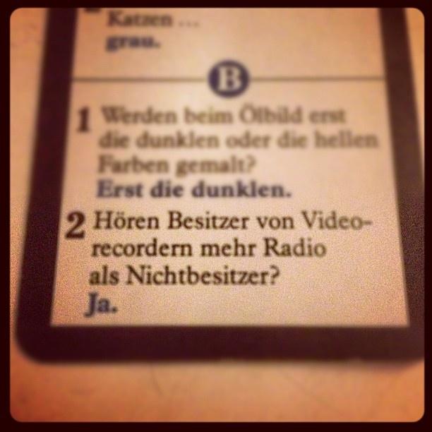 """@henningtillmann's photo: """"Die beste Frage beim Spiel des Wissens."""""""