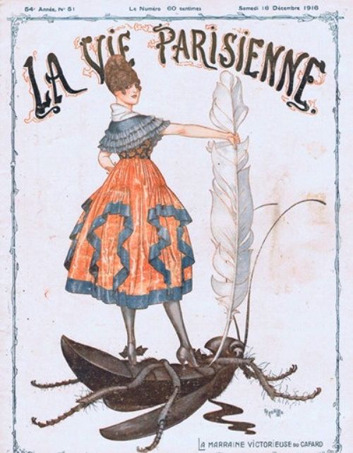 Illustration by Cheri Herouard For La Vie Parisienne December 1916