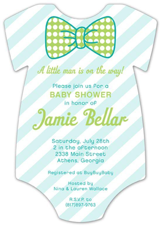 Pattern Cutie Onesie Baby Shower Invitation.