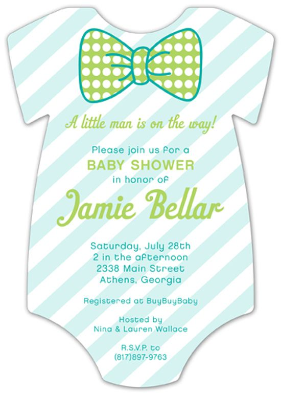pattern cutie onesie baby shower invitation little man baby shower