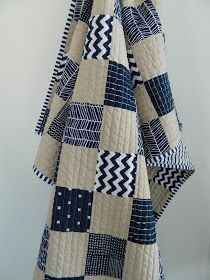 s.o.t.a.k handmade: navy + parchment baby quilt...