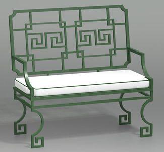 Greek Key Settee | 6405