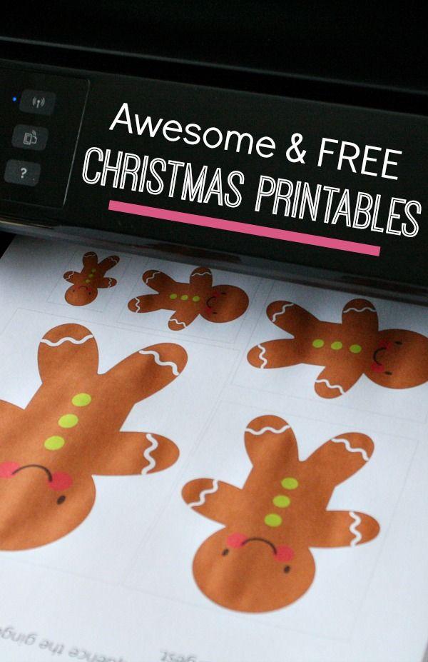 20+ Awesome and FREE Christmas Printables for Kids