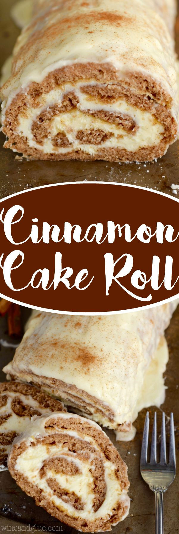 This Cinnamon Cake Roll is packed with amazing flavor and rolled up with the smoothest buttercream frosting and the smothered in an amazing glaze! Such a show stopper!: