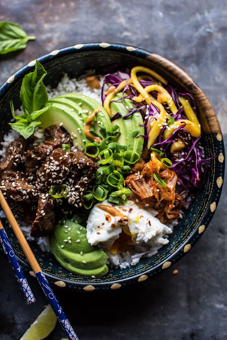 Korean Bulgogi BBQ Steak Bowls - so many awesome flavors, add or subtract what…