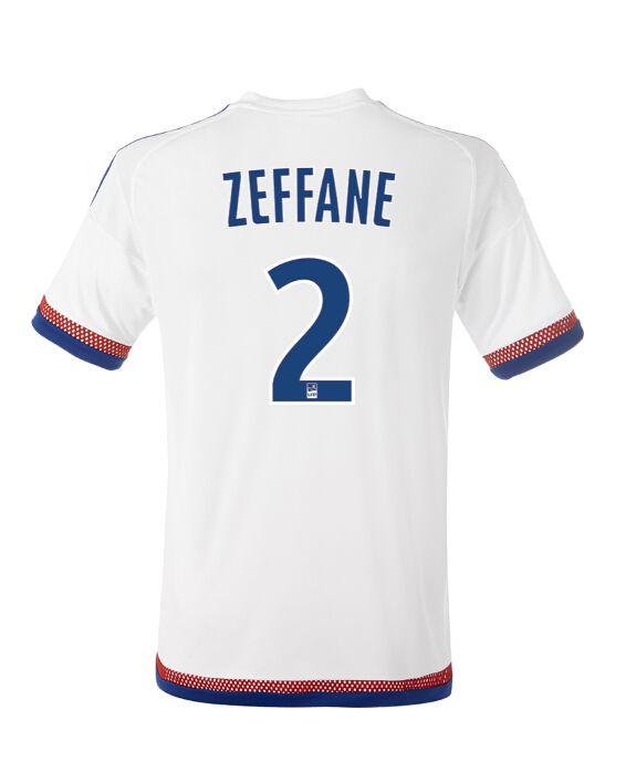 Maillot de foot Olympique Lyonnais Domicile 2015/2016 (2 Zeffane) Bleu Blanc