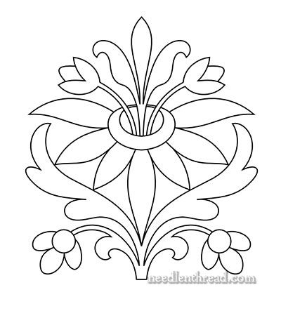 Free Hand Embroidery Pattern: Sprouting Floral