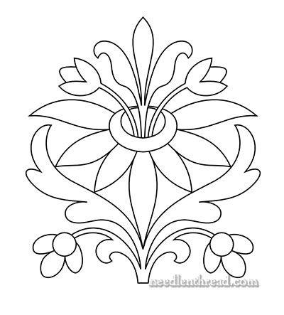 Floral para guarda o bordar