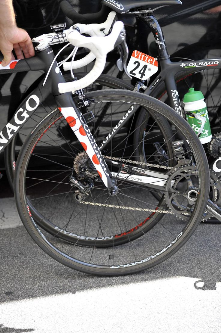 2012 Tour de France, stage 11 - Voeckler bike, wheels  Voeckler used Campagnolo's light Hyperon Ultra 2 climbing wheels for Thursday's stage. Photo: Caley Fretz | VeloNews.com