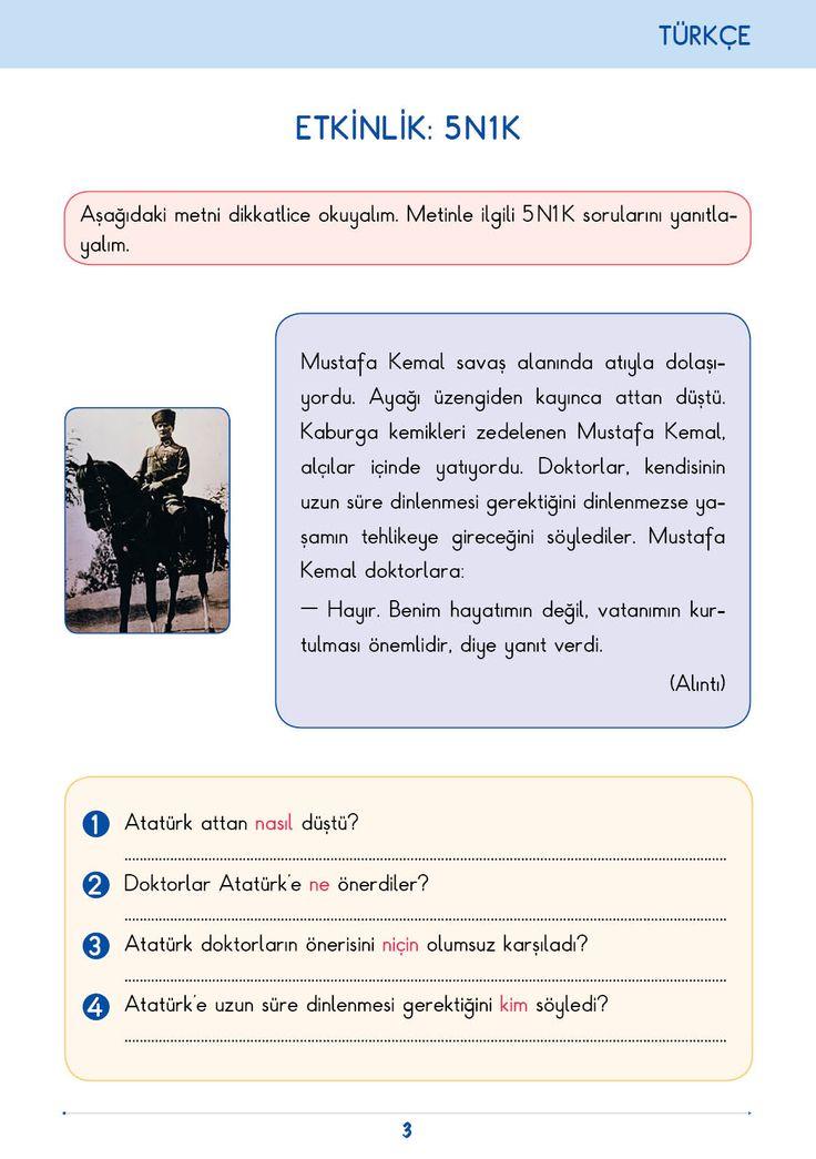 3. Sınıf Konu Anlatım Türkçe Bilgi Kutusu